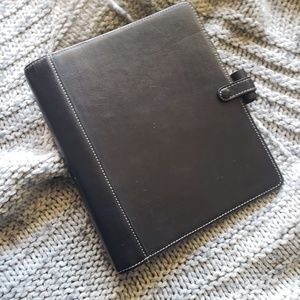 Filofax A5 Hamilton Black Leather Planner